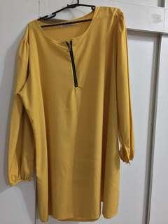 Mustard Blouse - Size 50 (plus size)