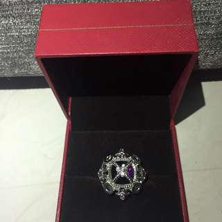ARTINI crown purple crystal ring
