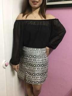 Off Shoulder & Aztec Skirt