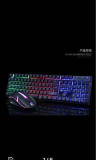 Limei GTX300 Luminous Suspension Game Keyboard Mouse Set