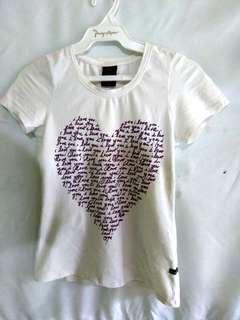 White Hotkiss Shirt w/ Design