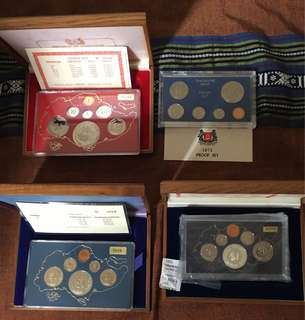 Singapore Mint Y1973 mintage1000 only + Y1977 +Y1983+ Y1984 Proof Coins set