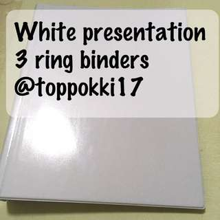 3 ring binder white presentation binder white view binder with plastic covering