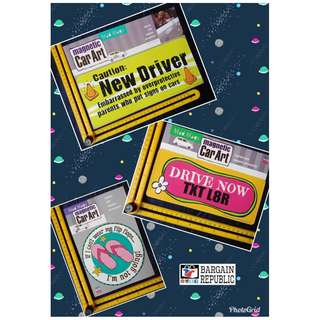 Magnetic Car Art Auto Sign Mad Mags- CAUTION NEW DRIVER Drive Now Text Later Fridge Ref Locker Magnet