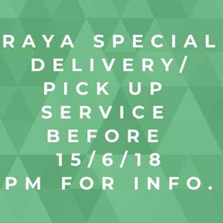 Special Arrangement for RAYA