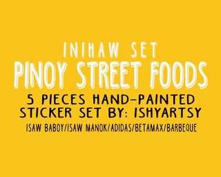 PINOY STREET FOOD STICKERS- Inihaw set
