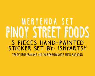 PINOY STREET FOOD STICKER- Meryenda set
