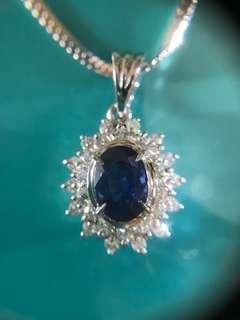 Ⓜ️❇️Ⓜ️✨ 藍寶石 鑽石頸鏈✨Ⓜ️❇️Ⓜ️