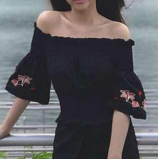 Sabrina Flower Top