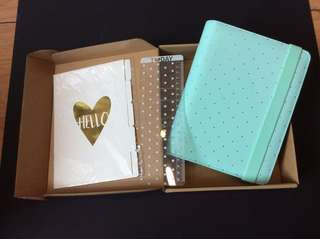 Planner Cover (Mint green with gold dots)