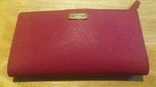 Kate Spade 桃紅色長銀包