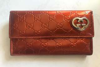 Authentic Gucci Patent Leather Wallet