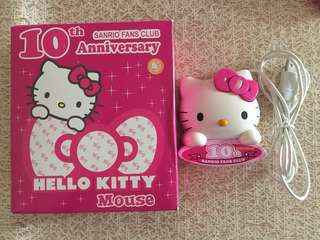 SANRIO 十週年 Hello Kitty Mouse 滑鼠器