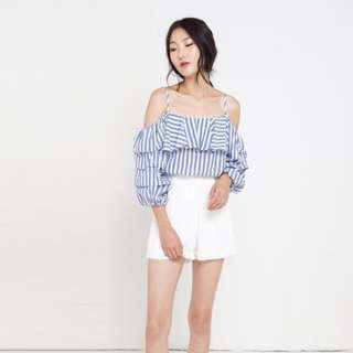 Zara Off Shoulder Puff Sleeve