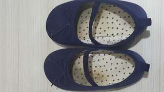 Sepatu kids girls H&M warna navy blue