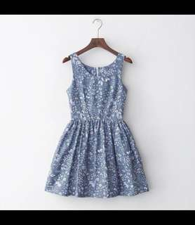 Blue floral Aline dress