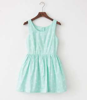 Mint green playful Aline dress