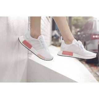 🚚 Adidas NMD R1 W  乾燥玫瑰粉 BY9952 愛迪達 休閒女鞋 必備單品 白X粉 穿過一次 實拍錄影無修圖 尺寸:36/22.5