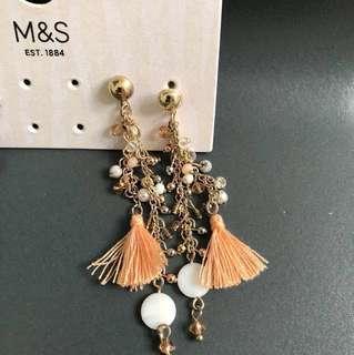 M&S earrings 100% new & real