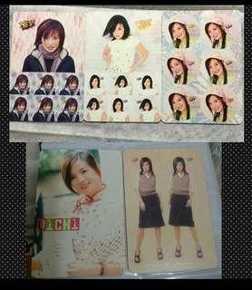 18張 uicki 趙薇 yes card 白咭&貼紙咭