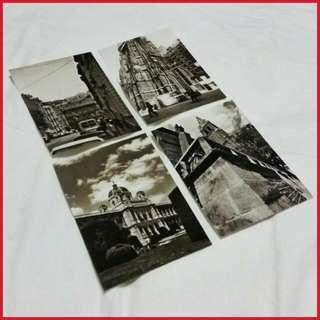 🌟✈ Classy & Artsy B&W Vienna Postcards