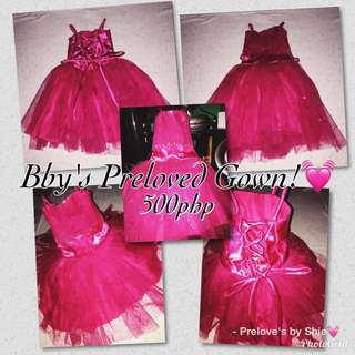 Preloved Gown for Girls babies