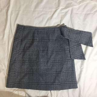 🚚 Pazzo 格紋綁帶短裙