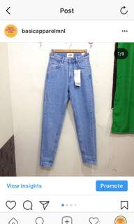 ZARA HW MOM JEANS (light denim)