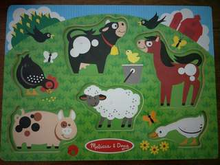 Melissa & Doug- Educational Wooden Puzzle