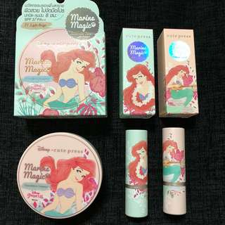 Instock Thailand cutepress x Disney little mermaid Ariel lipsticks And foundation