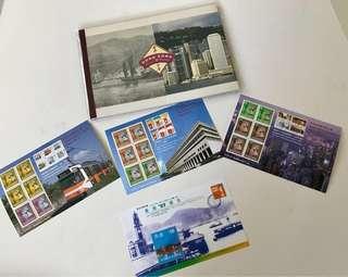 香港經典郵票第七至九輯 + 香港今昔香港97郵票展覽會小冊子 (包平郵)(只限郵寄)