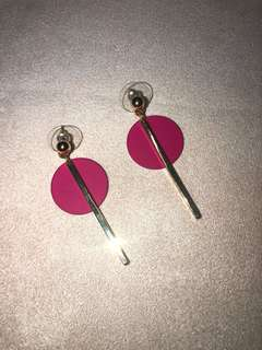 Pink/Gold Minimalist Earrings