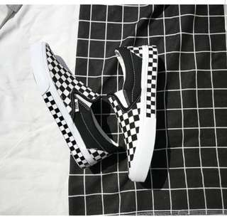(FREE POS) Vans Inspired Checkered Slip Ons
