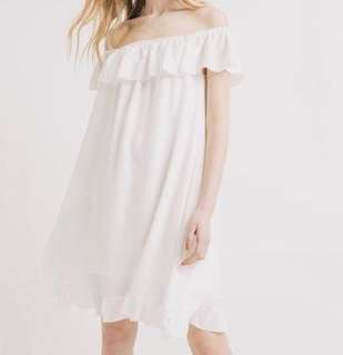PROMOD off-shoulder white dress