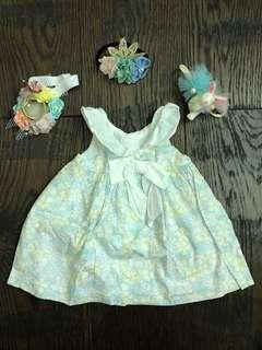 Dress baju bunga bunga cantik