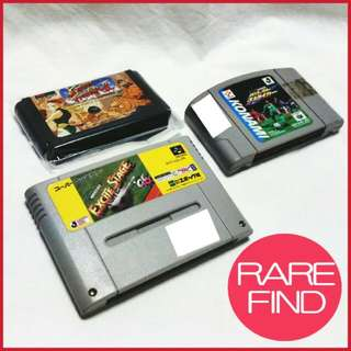 Vintage Game Cartridges: Famicom, Mega Drive, Nintendo 64