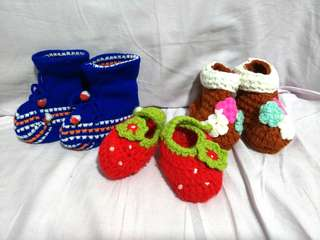 Crochet knitted Baby Shoes
