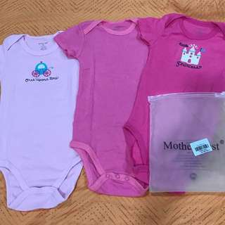 3pcs Rompers (10-12mos)