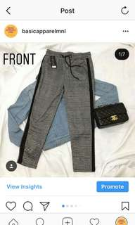PLAID TROUSER WITH SIDE STRIPE
