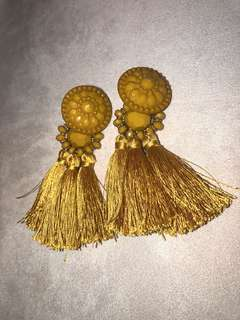 Mustard Statement Earrings