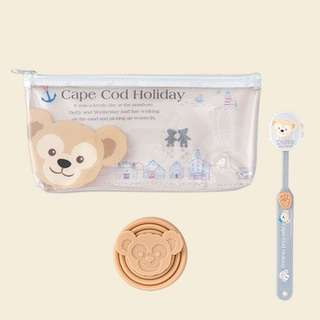 PO Tokyo disneysea Duffy and Shelliemay toothbrush and cup with pouch set