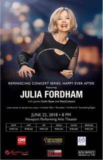 JULIA FORDHAM LIVE IN MANILA. JUNE 21 & JUNE 22