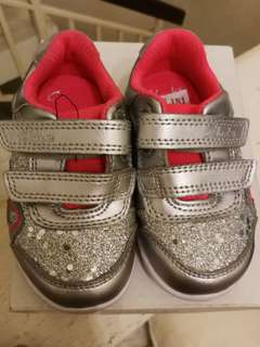 Clarks Silver Metallic Girls Shoes