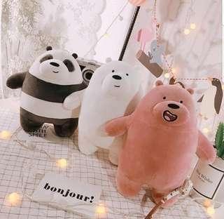 We Bare Bears Stuffed Soft Toys 💋