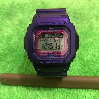 剩錶Casio G shock GLX-5600B 原裝錶帶變色,已換紫色原裝帶