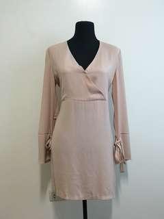 Pastel Pink Sleeves Dress
