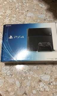 Sony PS4 Jet Black 500gb