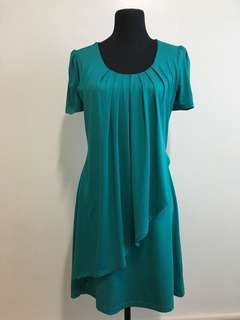 Teal Short Sleeved Dress