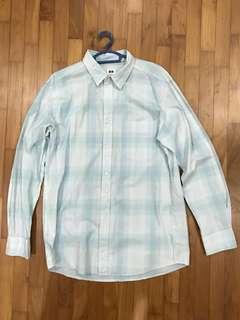 Uniqlo Long Sleeve Light Blue chequered Shirt