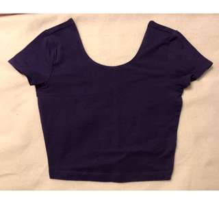 Garage: Purple Crop Top... Size: XS